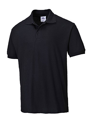 Portwest Polo Shirt Polyester & Cotton Rib-knitted Collar White Extra Large Ref B101WHTXLGE schwarz