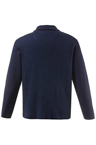JP 1880 Herren große Größen bis 7XL | Strick-Blazer | Jersey-Jackett Freizeit, Knopfverschluss | Reverskragen, Taschen | dunkelblau | 711360 Rauchblau