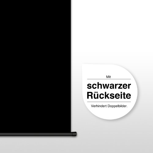 eSmart Germany MIROLO | Rolloleinwand | 295 x 165 cm (133″) 16:9 | Vollmaskierung | Heimkino Beamer Projektionsleinwand Rollo Leinwand LCD LED | Modell 2017 - 5