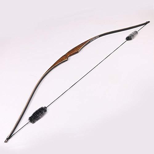 Toparchery 35lbs Tir à l'arc Chasse Arc Classique Une Pièce Traditionnel Bois Longbow Targetning Practice Main Droite (35)