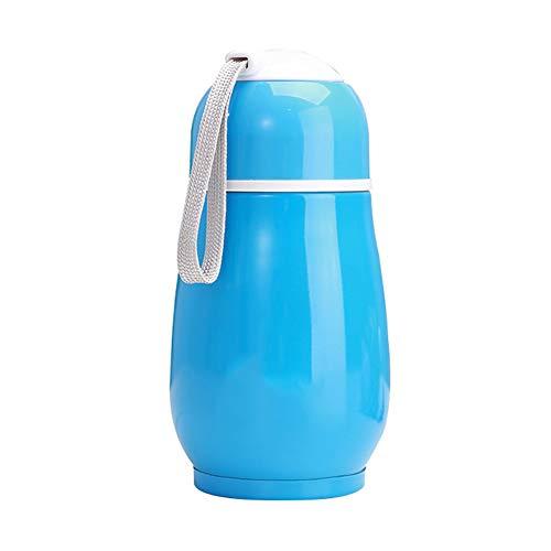 SEGRJ Nette 300 ml Tragbare Kaffee Flasche Isolierflasche Tee Wasser Tasse Thermische Krug Becher Geschenk Getränk Flasche Sport Auslaufsicher Edelstahl Vakuum Tasse Blau -