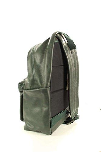 Zaino Pakr Imbottito Eastpak, 40 Cm, In Pelle Verde 24 Litri