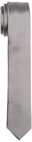 Calvin Klein Herren TREND SLIM 5 cm Krawatte, Grau (PLATINUM 850), One size
