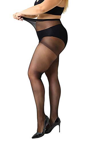 MANZI Damen Strumpfhose 2 or 4 Paar Plus Größen (Nylon Übergröße Kostüm)