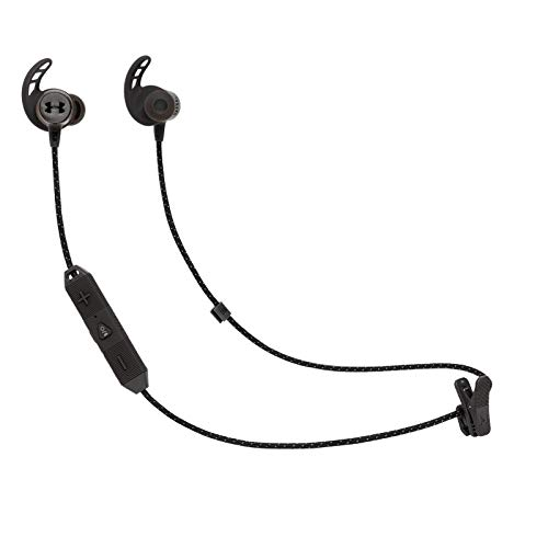Under Armour REACT Sport In-Ear Wireless Earphones, JBL Engineered Technology & Sound, Wireless Neckband In-Ear Headphones for Sports Training, in Black Best Price and Cheapest