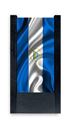 Piccola BANDIERINA Azera 14 x 21 cm AZ FLAG Bandiera da Tavolo Azerbaigian 21x14cm