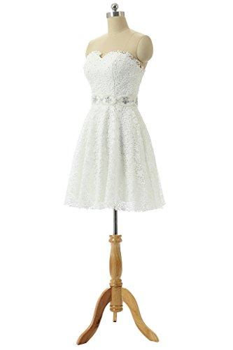 Baijinbai - Robe - Trapèze - Femme Blanc