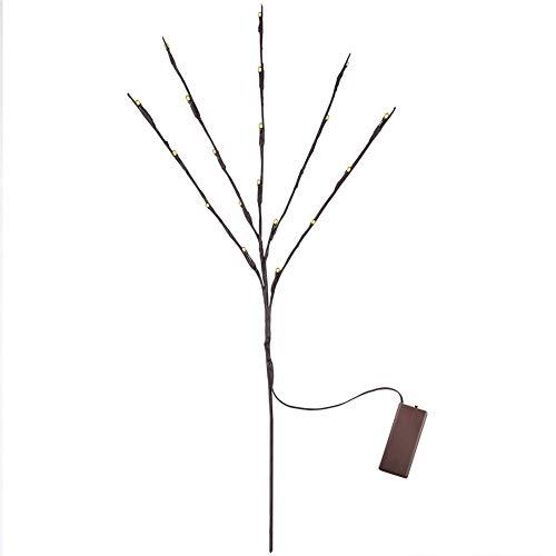koulate Decoración de Luces de árbol, lámpara de Noche, Luces de Rama Lámpara de árbol LED, Ramas Artificiales iluminadas para la decoración del hogar, decoración de Fiesta