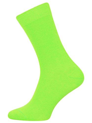 Neon Herren Socken Gr.39-47 in Farben (42-44, Grün)