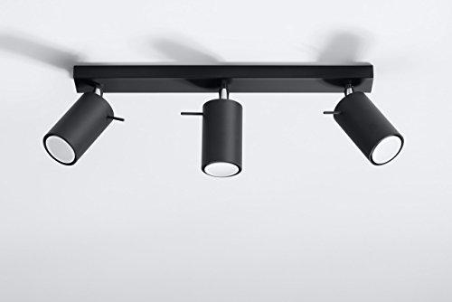 Plafoniere Da Salotto : NovitÀ plafoniera nera per salotto e corridoio acciaio sollux