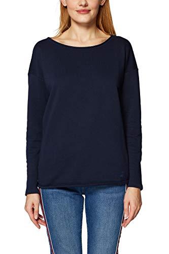 edc by ESPRIT Damen 029CC1J004 Sweatshirt Blau (Navy 400) Small (Herstellergröße: S)