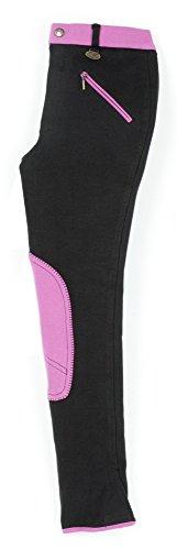 USG  Kinderreithose Emilia, schwarz/pink, 146, 10450008-319-146