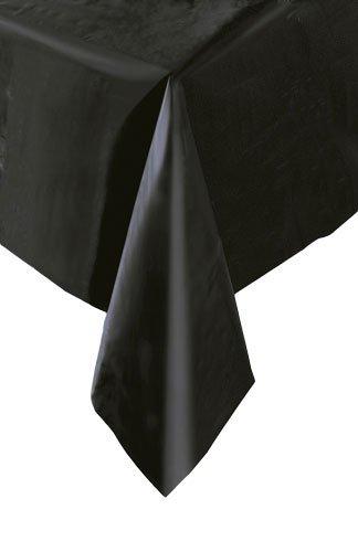 Schwarz rectanglular Kunststoff Tabelle Abdeckung 54x 108Party Decor