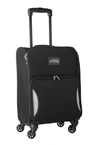 nba-san-antonio-spurs-lightweight-nimble-upright-carry-on-trolley-18-inch-black-by-nba