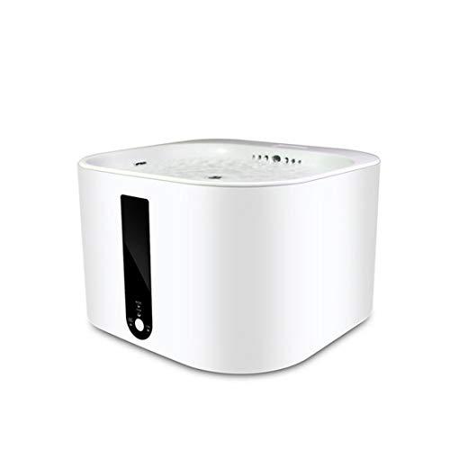 WEATLY Dispensador de Agua Inteligente para Mascotas Dispensador de oxígeno de circulación automática Utensilios para Beber Perros de Gato (Color : White)