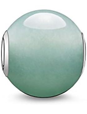 Thomas Sabo Damen-Bead Karma Beads 925 Sterling Silber Aventurin poliert grün K0049-010-6