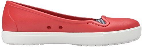 Crocs - Citilane Flat W, Zoccoli Donna Rosso (Flame/White)