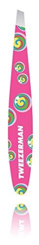Tweezerman Rainbow Lollipop Swirl Mini Blister Slant Pinzette