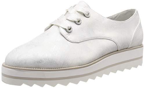 Tamaris Damen 1-1-23700-32 Sneaker, Weiß (White Met.Str. 106), 37 EU