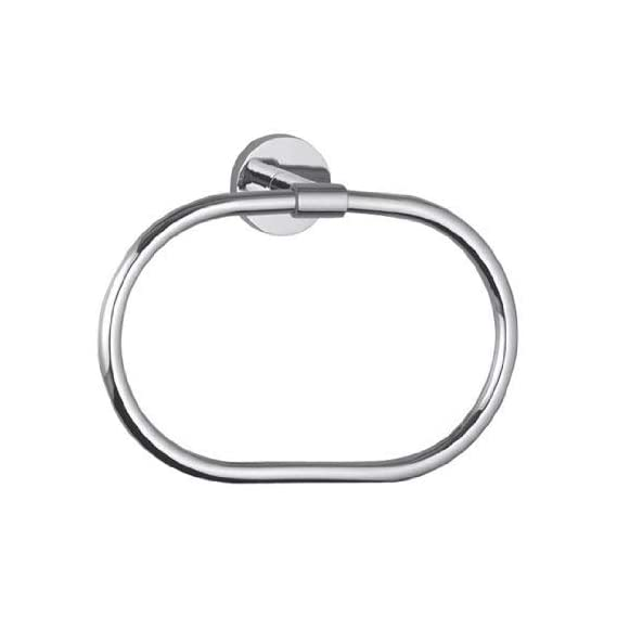 Hindware F880007CP Brass Contessa Towel Ring (Silver)