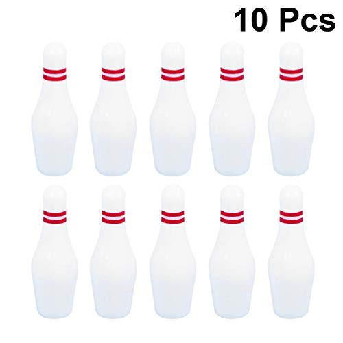 NUOBESTY 11pcs Miniatur Bowling-Spiel Set 10pcs Bowlingkugeln und EIN Marmor für Kinder Indoor-Desktop-Sport-Partyspaß Spielzeug Spielen