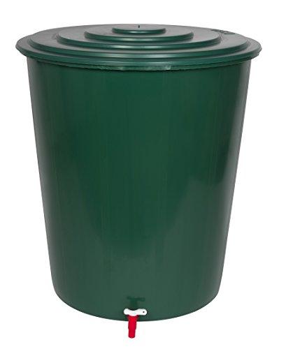 Kreher XL Regentonne 310 Liter aus Kunststoff in Grün. Mit sehr robustem Monoblock Stand, Wasserhahn und Deckel mit Sicherheitsverschluss! Top Qualität