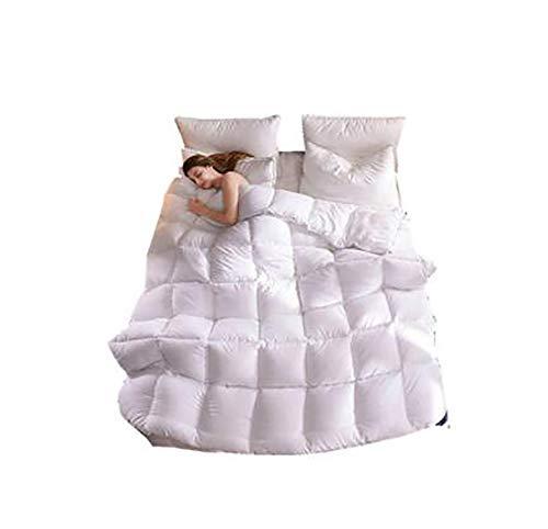 Alger Extra Dicke und warme Bettdecke in Verschiedenen Größen - energiesparend staubdicht und Anti-Daunen-Gewebe antiallergisch weiß, 200 * 230