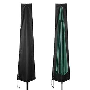 Velway Patio Umbrella Cover With Zipper Waterproof Outdoor Umbrellas