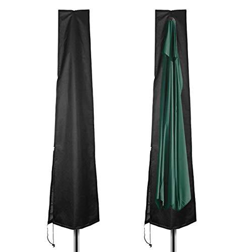 Velway copertura per ombrellone rotonda impermeabile 190cm fodera protettiva per ombrellone parasole da spiaggia giardino balcone copri con cerniera lampo laterale e cordicella in basso