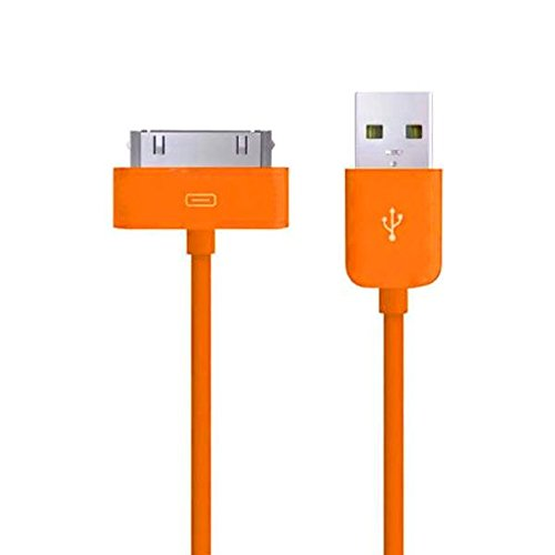 TheMax High Speed USB 2.0Daten-Ladekabel für iPhone 3G/3GS/4/4S, iPad 1./2./3. Gen, iPod 3./4./Classic/iPod Mini/iPod Nano 1./2./3./4./5. Gen, iPod Touch 1./2./3. 2 Meter Orange Ipod Nano 3. Gen