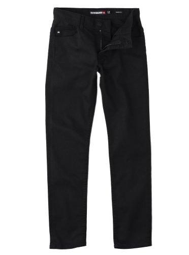 Quiksilver - Jeans skinny fit, bambino, Nero (Over Black), 12 anni