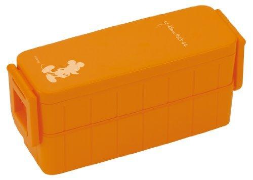 disney-mickey-technicolor-ultra-slim-tight-two-stage-lunch-box-orange-yzws3yzws3-japan-import-by-ska
