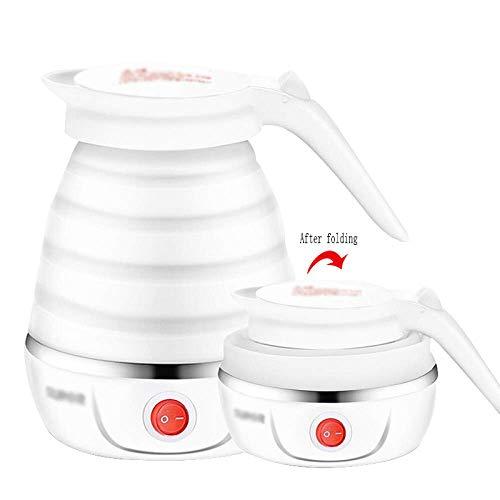 FEE-ZC Christmas Household OLI Reisewasserkocher Dual Voltage, Reisewasserkocher, elektrischer Warmwasserbecher, Kleiner tragbarer Klappreisewasserkocher, weiß, 13,2 * 17,2 cm