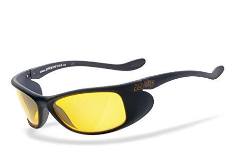 eyes® | H-FLEX®- unzerbrechlich, beschlagfrei, nachtsicht HLT® Kunststoff-Sicherheitsglas nach DIN EN 166 | Bikerbrille, Motorradbrille, Sportbrille, Nachtbrille | Brille: top. ()