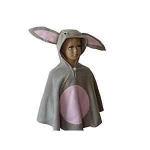 fasching karneval halloween kostüm cape für kleinkinder hase
