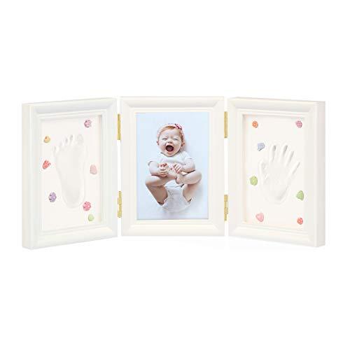 Tilcuptious Baby für Fußabdruck und Handabdruck Picture Frame Kit, perfektes Geschenk für Baby Shower Registry, unvergesslichen und einzigartigen Bilderrahmen für neugeborene Jungen und Mädchen