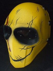 ARMY OF TWO WATCHMEN SMILEY(CARVING) AIRSOFT MASCARA PROTECTORA GEAR SPORT PARTY FANCY EXTERIOR GHOST MASCARAS BB GUN