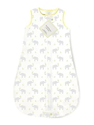 SwaddleDesigns zzZipMe Sack, algodón), diseño de elefante & Chickies _ Parent ASIN