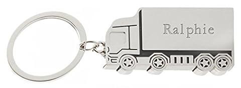 Kundenspezifischer gravierter Metall Lkw Schlüsselanhänger mit Aufschrift Ralphie (Vorname/Zuname/Spitzname)