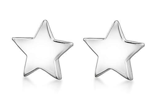 Tuscany Silver Damen Poliert Star Ohrstecker 925 Sterling Silber 8.55.4720