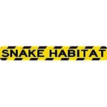 10x 1,25serpiente hábitat adhesivo vinilo animales jaula de depósito de precaución signo de vinilo por stickertalk®