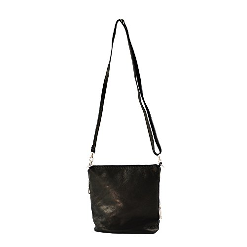 'CTM Petit sac d''épaule des femmes en cuir véritable made in Italy - 18x19x11 Cm'