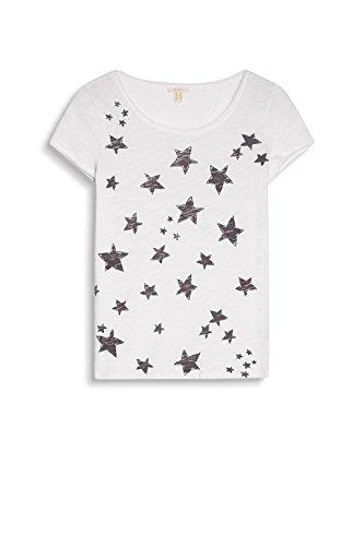 ESPRIT Damen T-Shirt Mehrfarbig (White 100)