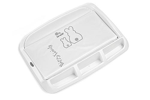 Brevi 006 tablet fasciatoio con portaoggetti, bianco