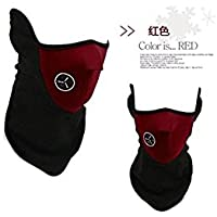 Xinhenchen Bike Motorcycle Cycle Ski Neck Winter Thermal Warmer Face Mask Skiing WIND PROOF (red)