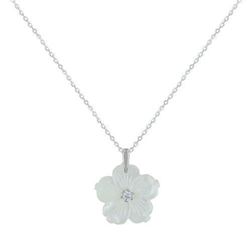 Fleur Collier Nacre