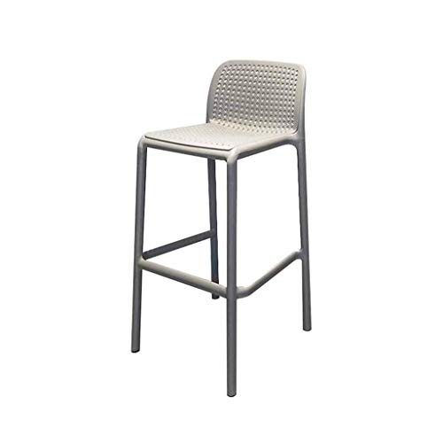 Hohe Dining Chair (WOYQS Nordic Plastic Bar Chair, Outdoor-Erholung Stapelbar Barhocker Creative Minimalist Dining Chair Küchenmöbel, für Restaurant, Theke, Einkaufszentrum, Bar, Cafe Counter Höhe Swivel Frühstücksküche)