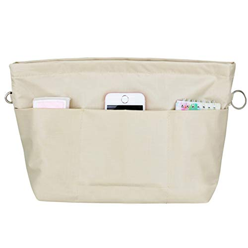 Handtasche Organizer Bag in Bag Taschenorganizer Einfügen Veranstalter Tasche Kosmetik Reise Khaki S -