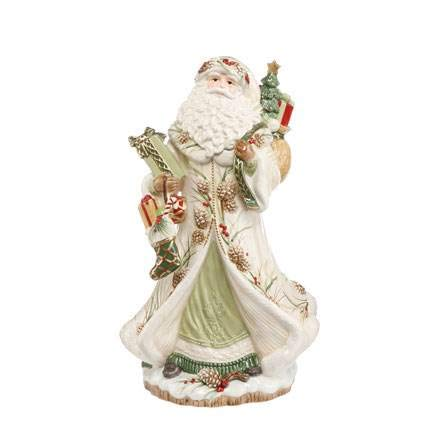 Goebel FF S Santa mit Geschenken grün Fitz and Floyd Fitz Floyd Christmas Collection Bunt Steingut 51001161 -