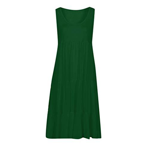 KEYIA Beach Dress Frauen Sommerferien Sleeveless Solid Party Dress Vintage Avon Cape